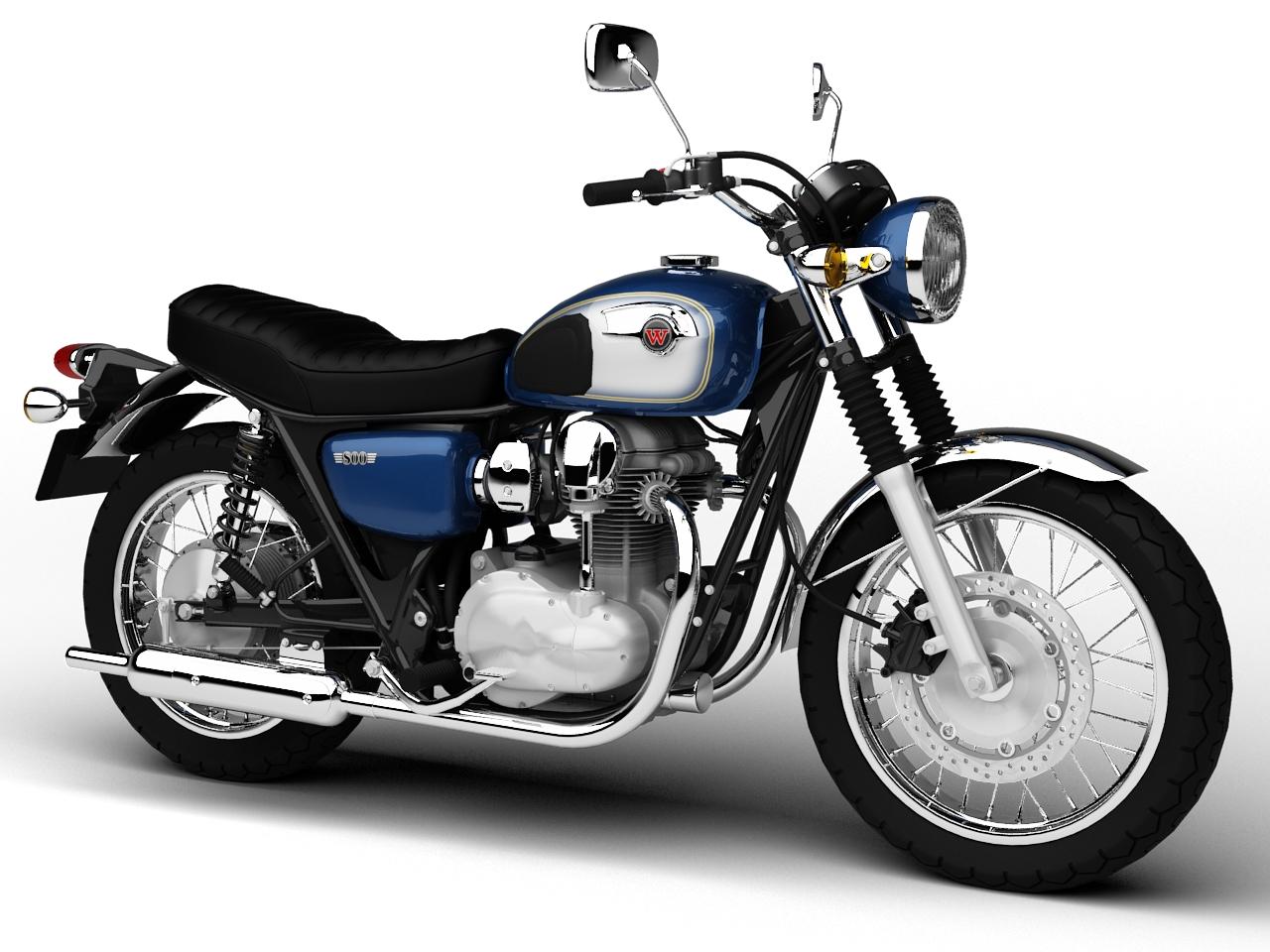 Kawasaki W800 2014 3d model 3ds max dxf fbx c4d obj 213634