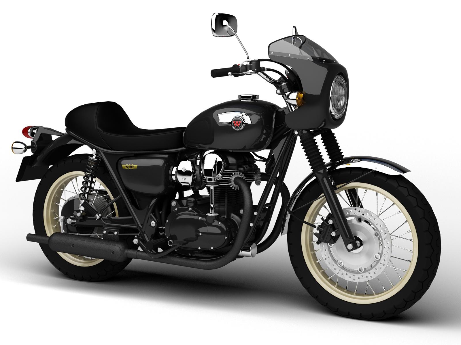 Kawasaki W800 CRS 2014 3d model 3ds max dxf fbx c4d obj 213655