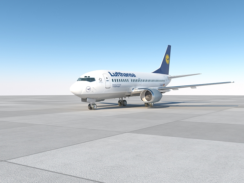 b737-500 lufthansa with interior 3d model max 213670