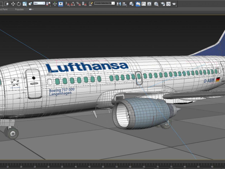 B737-500 lufthansa with interior ( 276.26KB jpg by S.E )