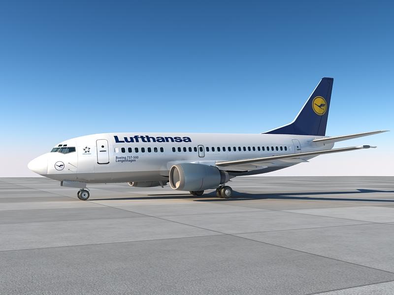 B737-500 lufthansa with interior ( 231.44KB jpg by S.E )