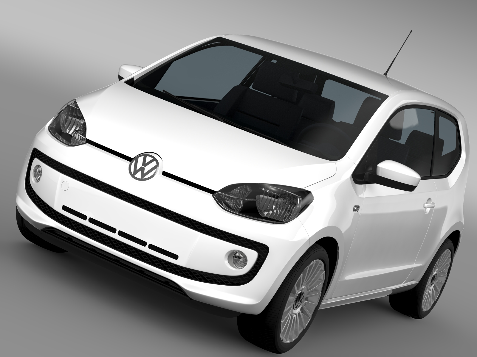 vw up 3 door 2015 3d model 3ds max fbx c4d lwo ma mb hrc xsi obj 213706