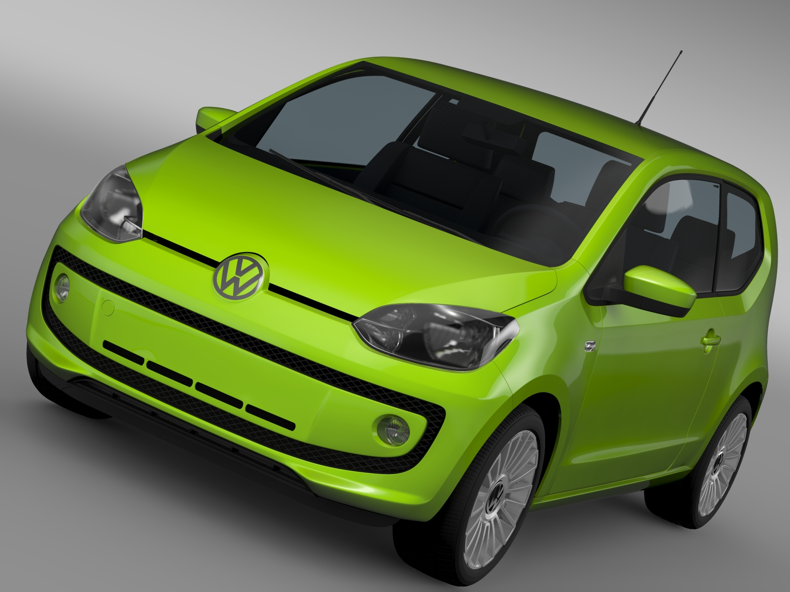 vw up ecofuel 3door 2015 3d model 3ds max fbx c4d lwo ma mb hrc xsi obj 213726