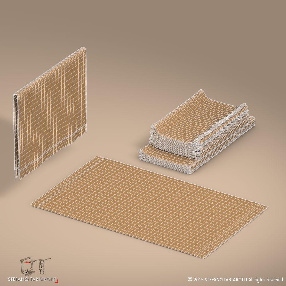 towel 3d model 3ds dxf fbx c4d dae obj 213750