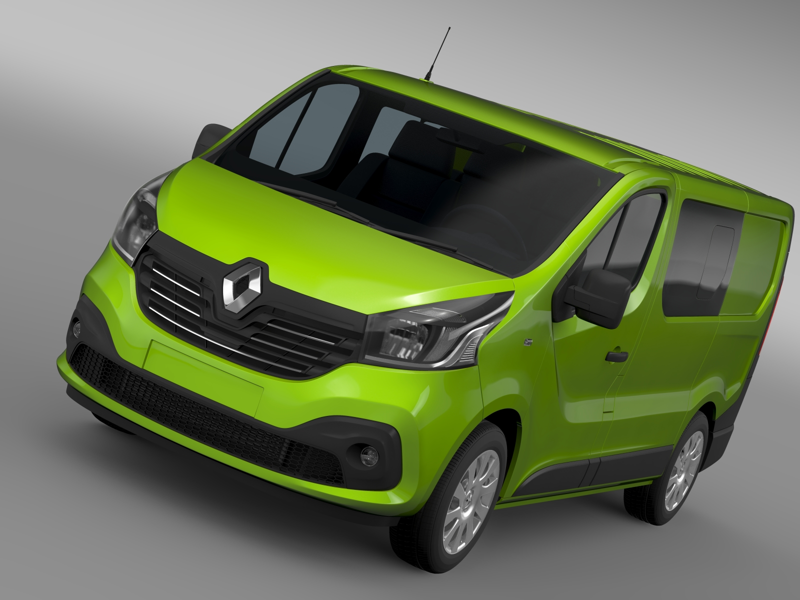 renault trafic combi 2015 3d modelis 3ds maks.