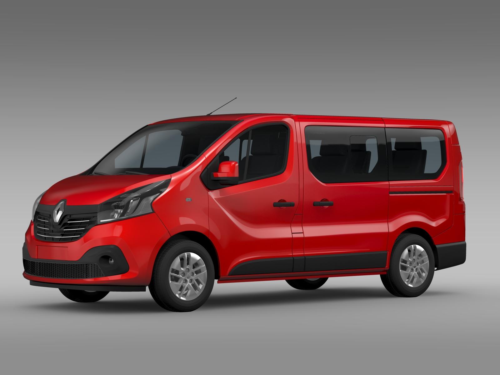 renault trafic minibus 2015 3d model buy renault trafic. Black Bedroom Furniture Sets. Home Design Ideas
