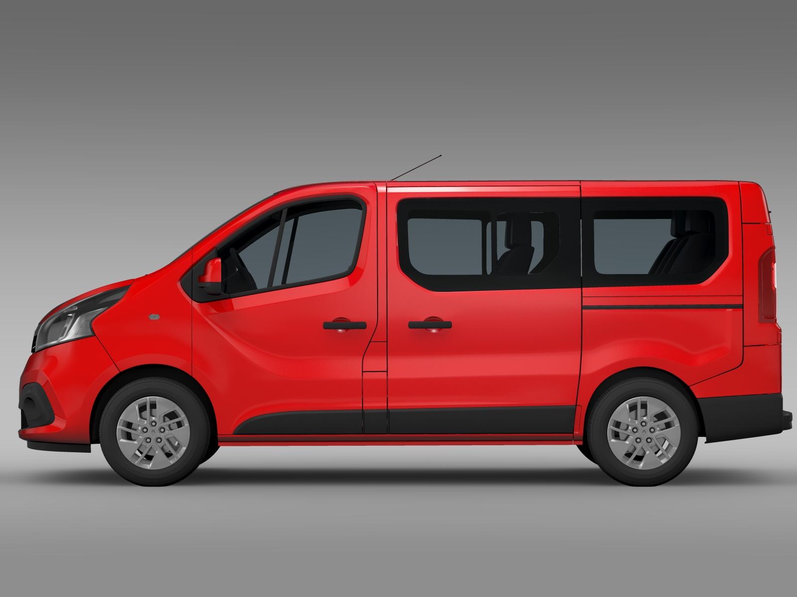 renault trafic minibus 2015 3d model. Black Bedroom Furniture Sets. Home Design Ideas