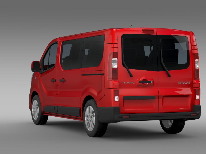 renault trafic minibus 2015 3d model 3ds max fbx c4d lwo ma mb hrc xsi obj 213821