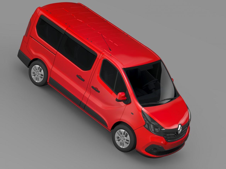 renault trafic minibus 2015 3d model 3ds max fbx c4d lwo ma mb hrc xsi obj 213823