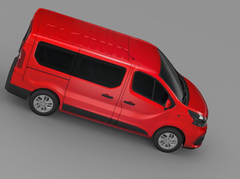 renault trafic minibus 2015 3d model 3ds max fbx c4d lwo ma mb hrc xsi obj 213824