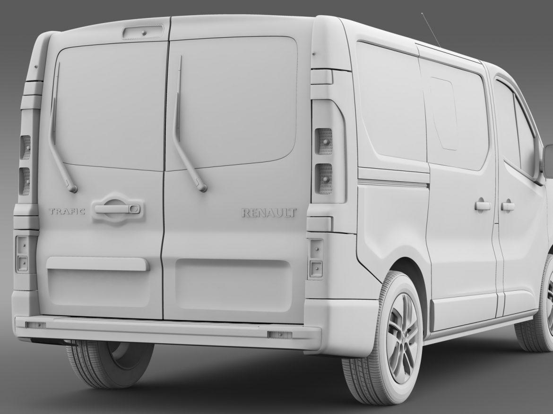 renault trafic minibus 2015 3d model 3ds max fbx c4d lwo ma mb hrc xsi obj 213829