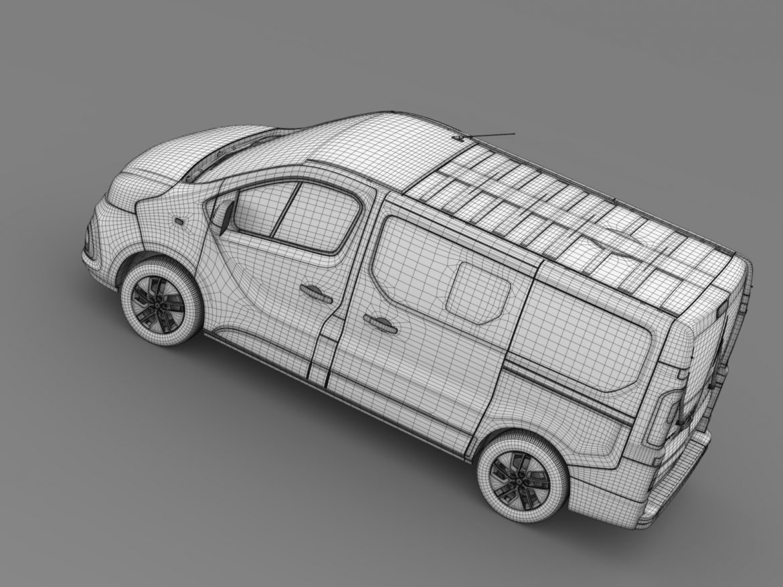 renault trafic minibus 2015 3d model 3ds max fbx c4d lwo ma mb hrc xsi obj 213830