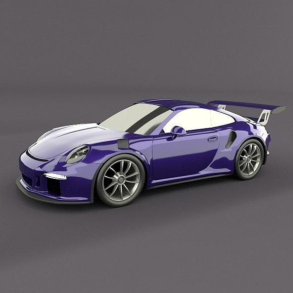 porsche 911 GT3 rs 2015 restyled 3d model fbx blend dae lwo obj 213834