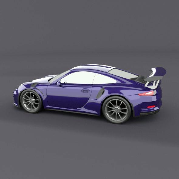 porsche 911 gt3 rs 2015 restyled 3d model fbx blend dae lwo obj 213835