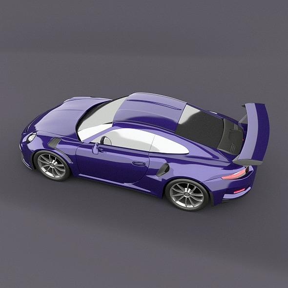 porsche 911 gt3 rs 2015 restyled 3d model fbx blend dae lwo obj 213836