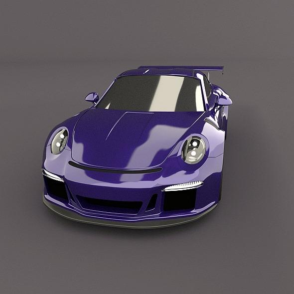 porsche 911 gt3 rs 2015 restyled 3d model fbx blend dae lwo obj 213837