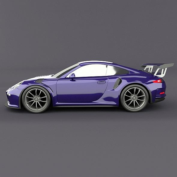 porsche 911 gt3 rs 2015 restyled 3d model fbx blend dae lwo obj 213838