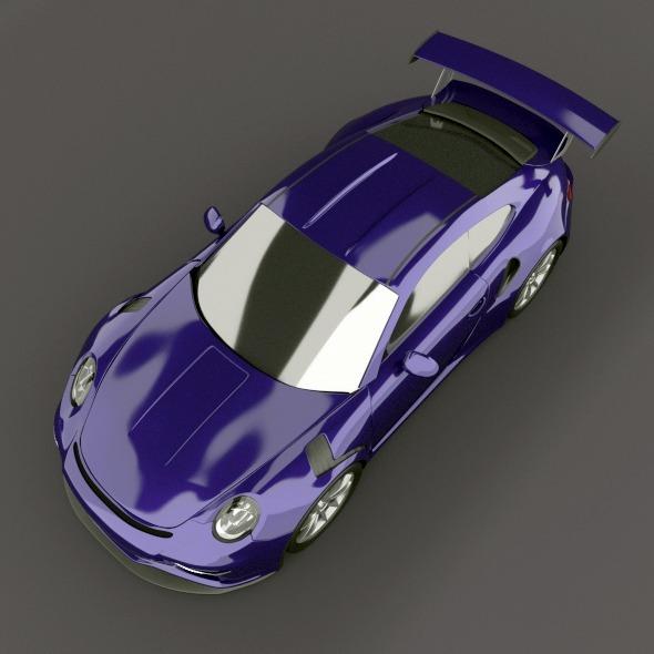 porsche 911 gt3 rs 2015 restyled 3d model fbx blend dae lwo obj 213841