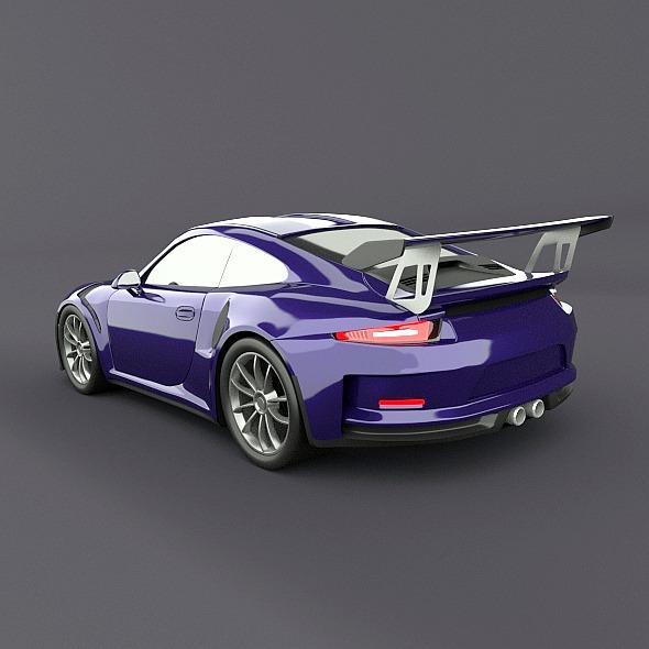 porsche 911 gt3 rs 2015 restyled 3d model fbx blend dae lwo obj 213842