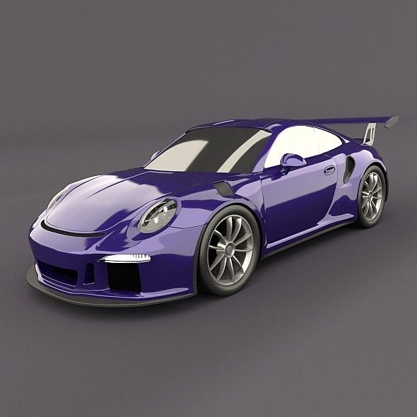 porsche 911 gt3 rs 2015 restyled 3d model fbx blend dae lwo obj 213843