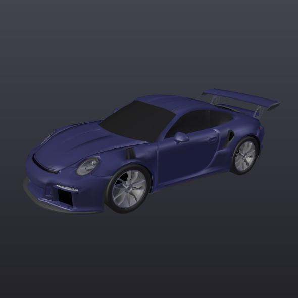 porsche 911 gt3 rs 2015 restyled 3d model fbx blend dae lwo obj 213844