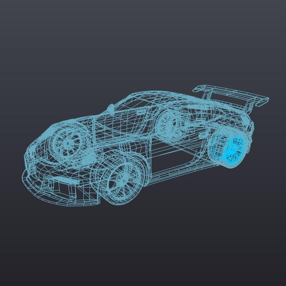 porsche 911 gt3 rs 2015 restyled 3d model fbx blend dae lwo obj 213845