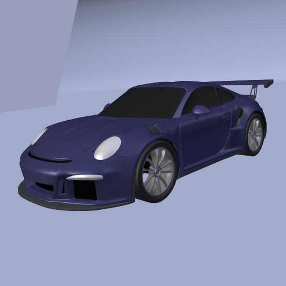 porsche 911 gt3 rs 2015 restyled 3d model fbx blend dae lwo obj 213846