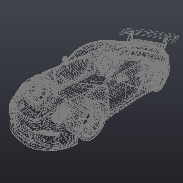 porsche 911 gt3 rs 2015 restyled 3d model fbx blend dae lwo obj 213847