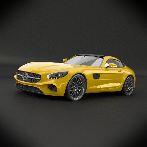 mercedes amg gt 2015 restyled 3d model 3ds fbx blend dae lwo obj 213850