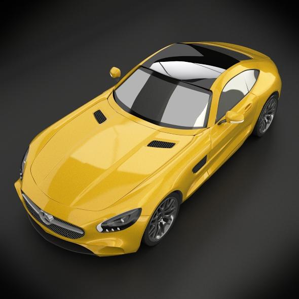 mercedes amg gt 2015 restyled 3d model 3ds fbx blend dae lwo obj 213858