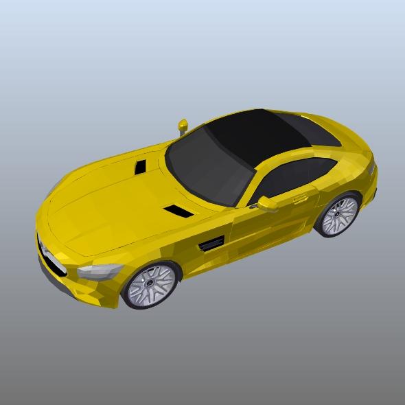 mercedes amg gt 2015 restyled 3d model 3ds fbx blend dae lwo obj 213860