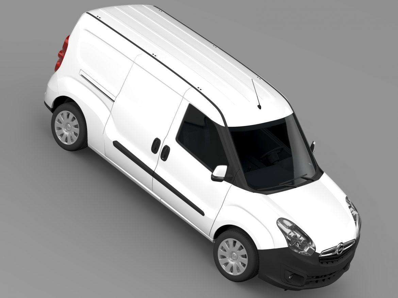 opel combo lwb cargo (d) 2015 3d model 3ds max fbx c4d lwo ma mb hrc xsi obj 213884