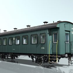 Passenger wagon III class 2-axles ( 2603.1KB jpg by Urecky )