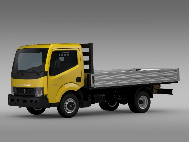 ashok leyland partner tipper 2015 3d model 3ds max fbx c4d lwo ma mb hrc xsi obj 213958