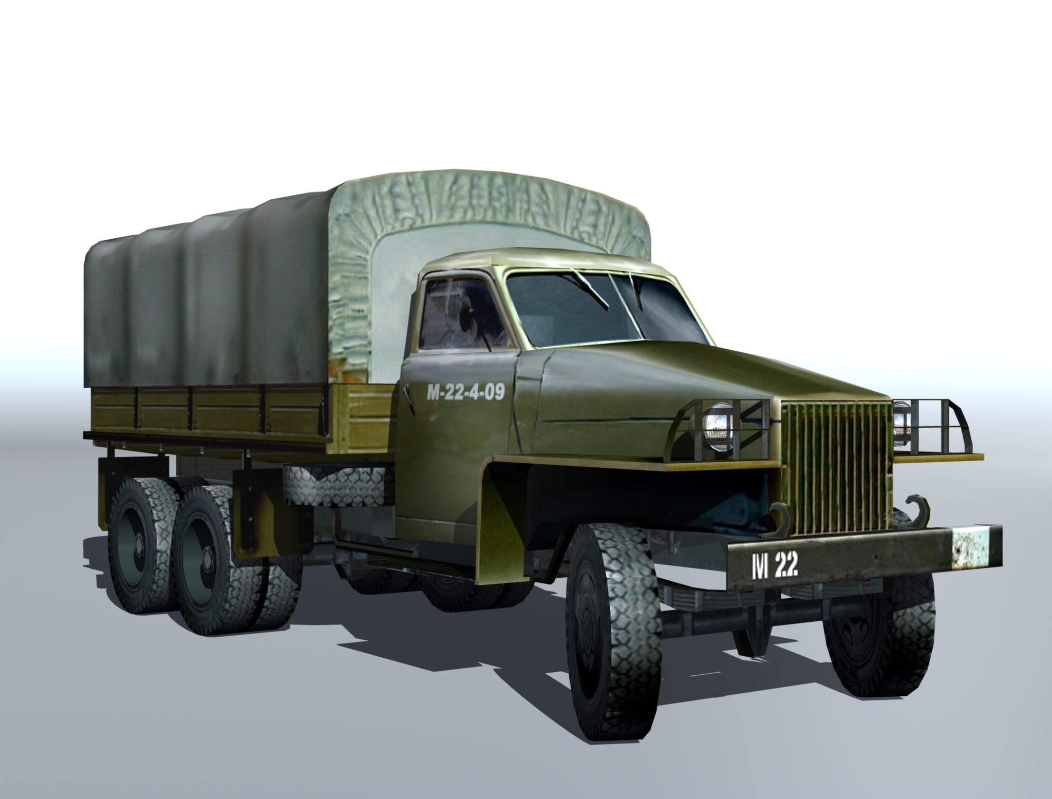 studebaker us6 2 3d model 3ds max fbx obj 213983
