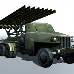 BM-13 - installation rocket artillery 'Katusha'. 3d model 0