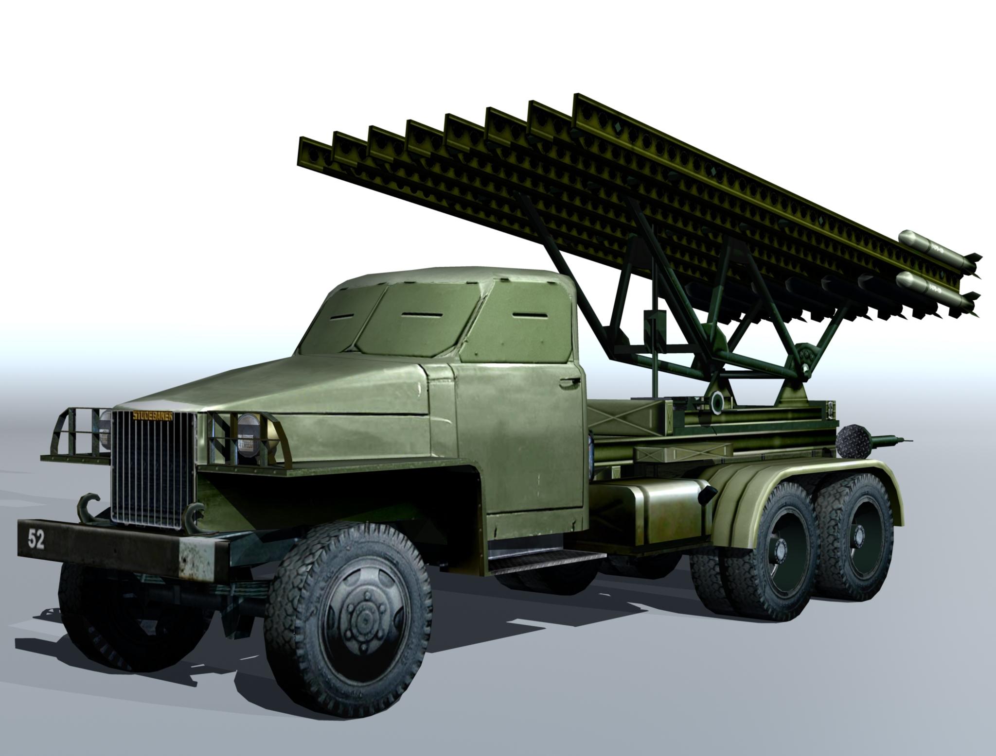 bm-13 – installation rocket artillery 'katusha'. 3d model 3ds max fbx obj 213993