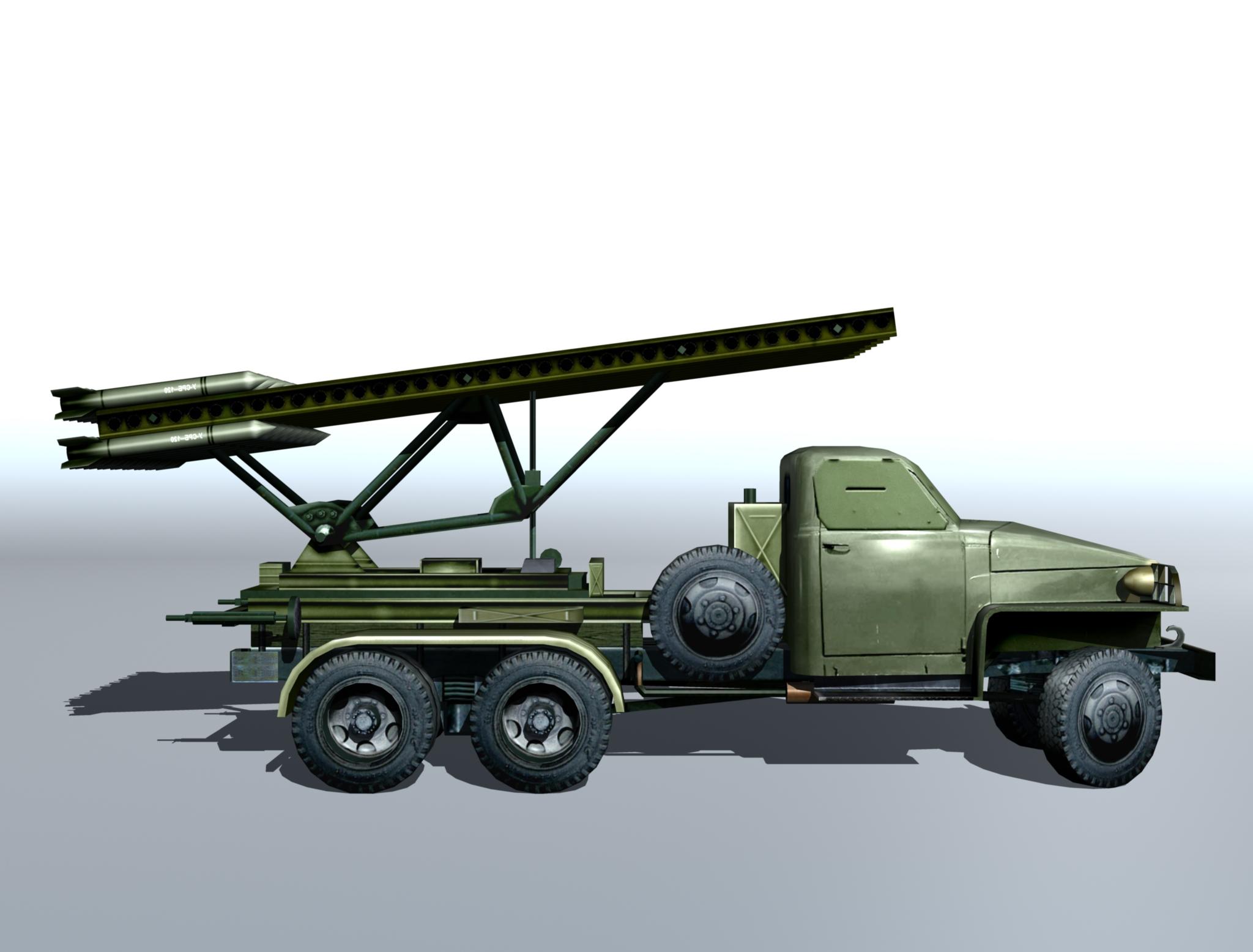 bm-13 – installation rocket artillery 'katusha'. 3d model 3ds max fbx obj 213994