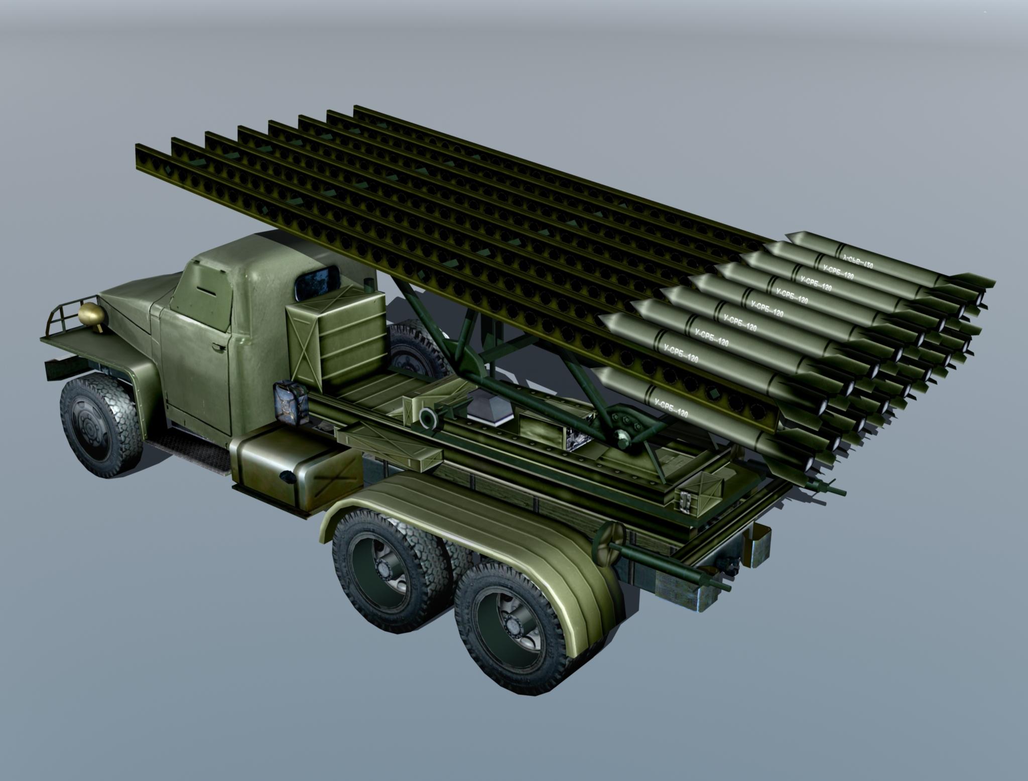 bm-13 – installation rocket artillery 'katusha'. 3d model 3ds max fbx obj 213995