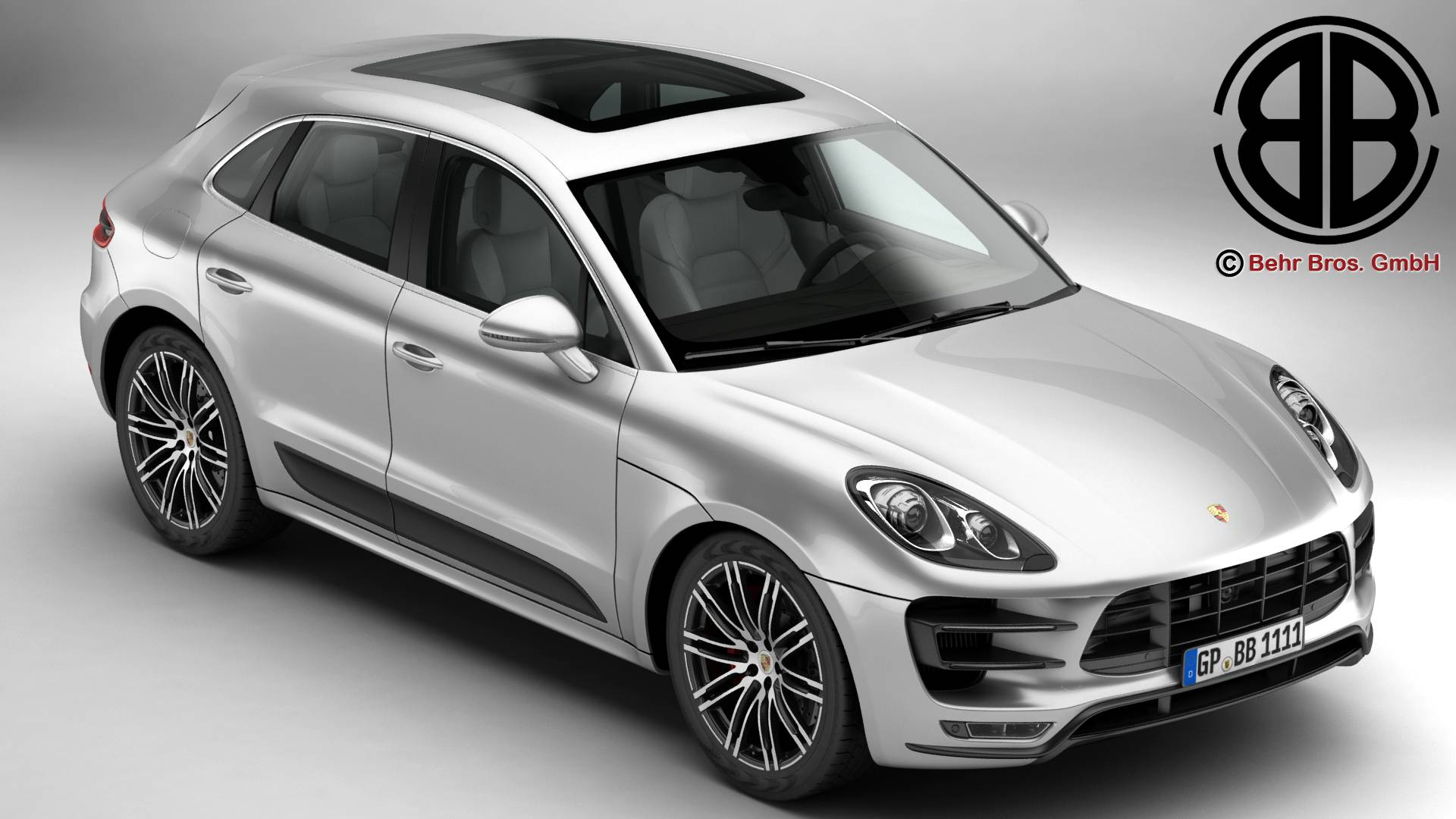 porsche macan turbo 2015 3d model 3ds max fbx c4d lwo ma mb obj 214041