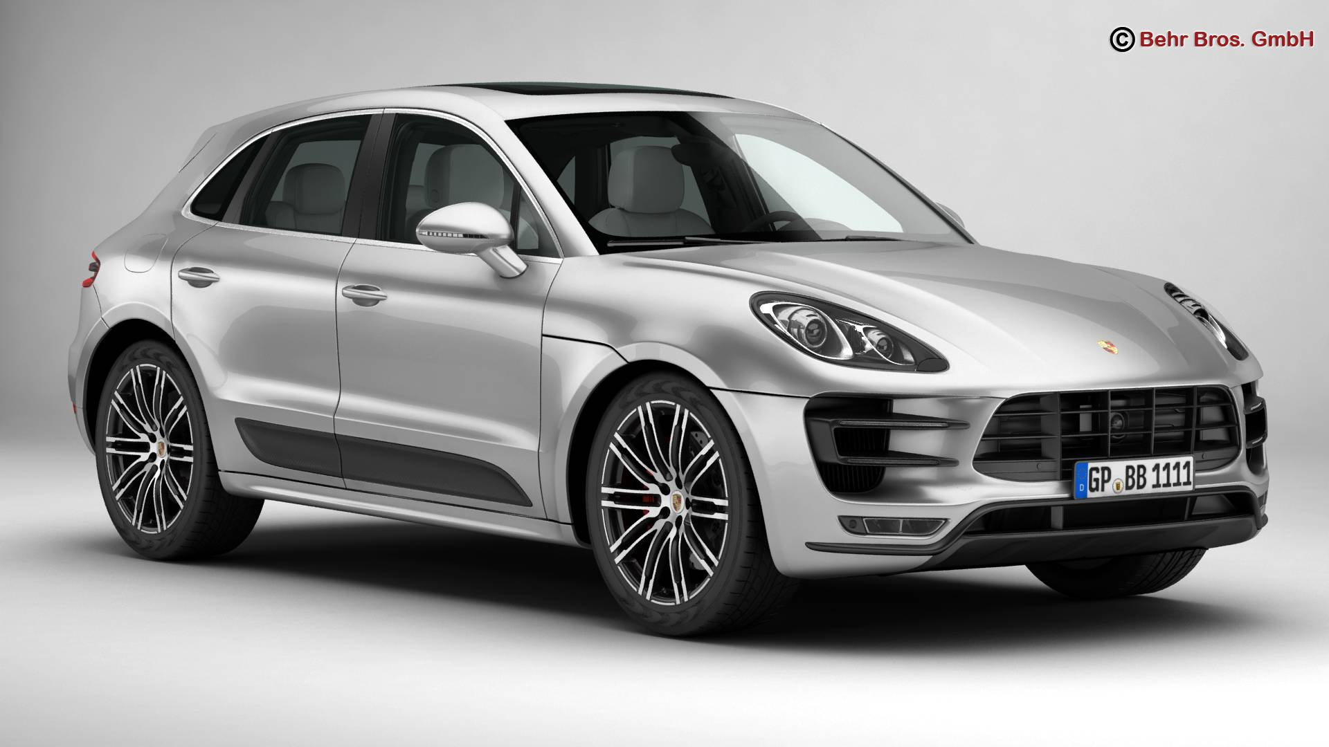 porsche macan turbo 2015 3d model 3ds max fbx c4d lwo ma mb obj 214042