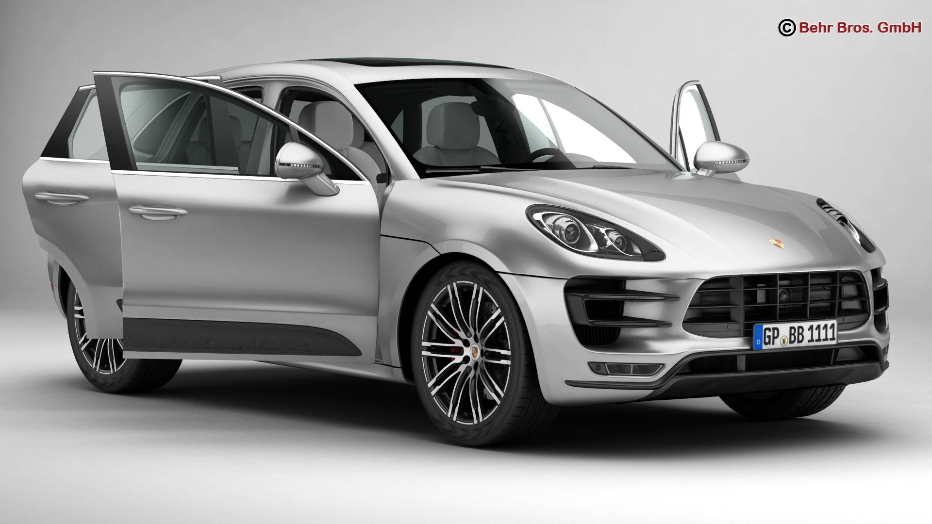 porsche macan turbo 2015 3d model 3ds max fbx c4d lwo ma mb obj 214043