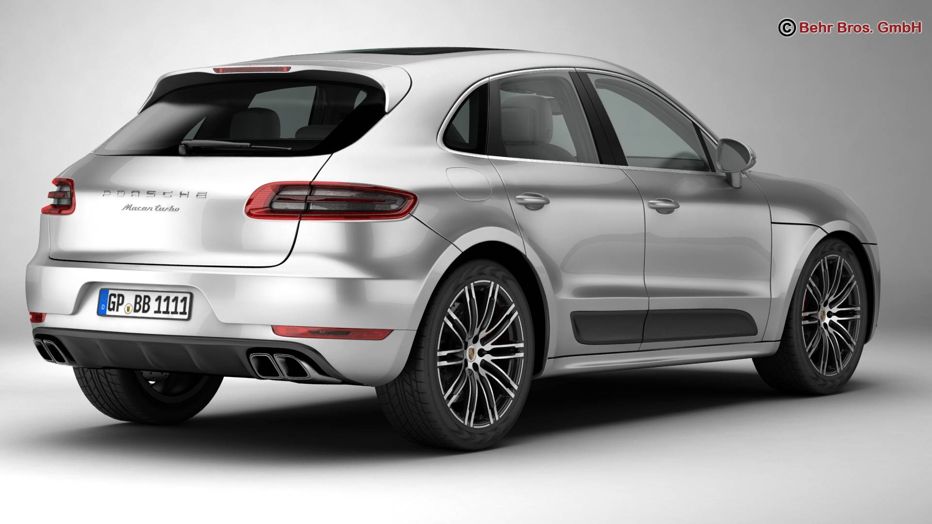 porsche macan turbo 2015 3d model 3ds max fbx c4d lwo ma mb obj 214044