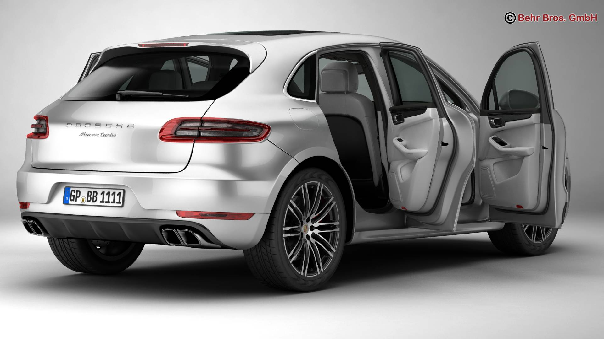 porsche macan turbo 2015 3d model 3ds max fbx c4d lwo ma mb obj 214045