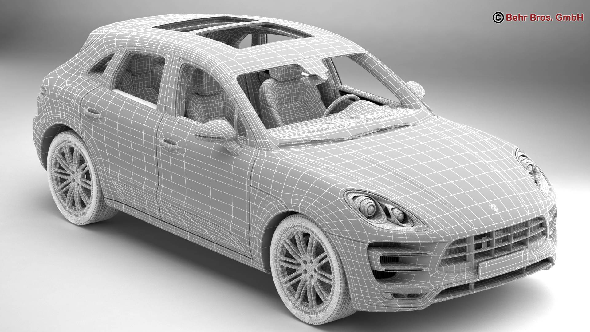 porsche macan turbo 2015 3d model 3ds max fbx c4d lwo ma mb obj 214055