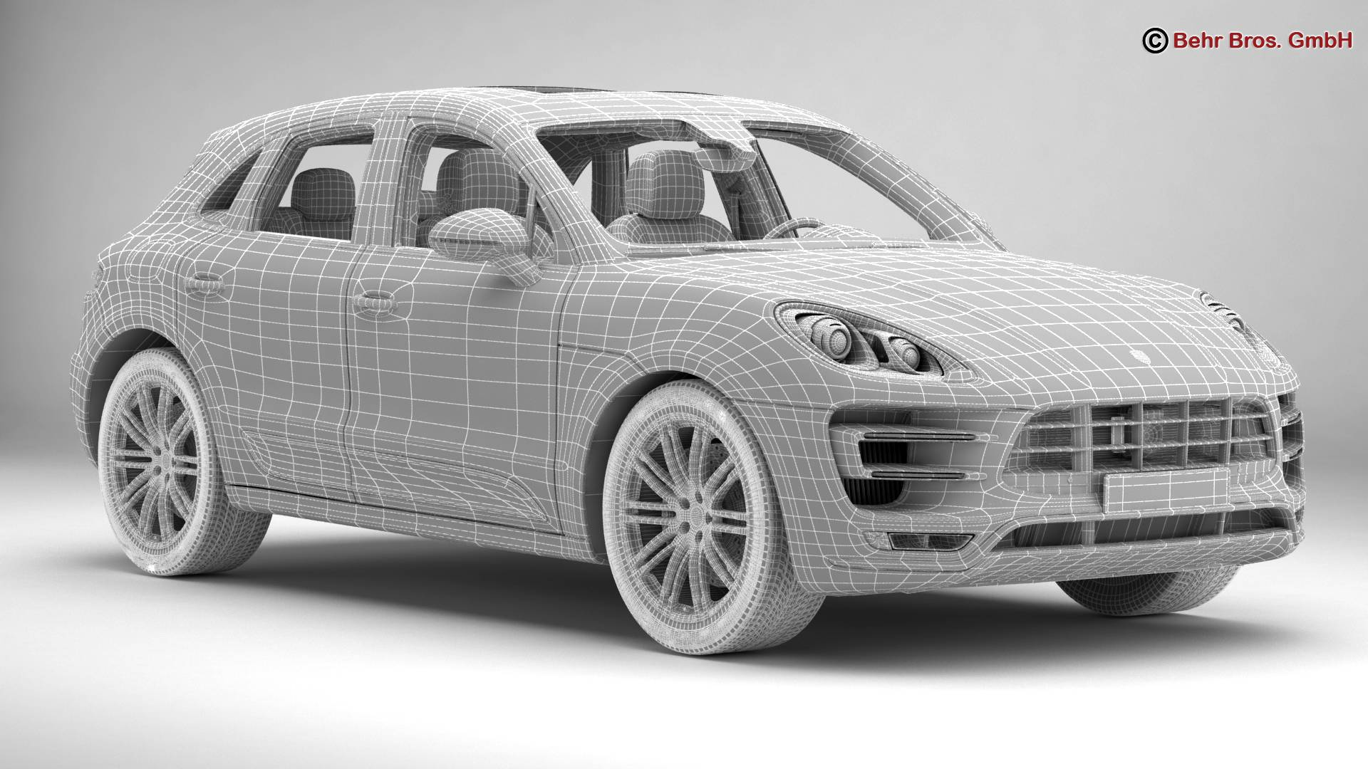 porsche macan turbo 2015 3d model 3ds max fbx c4d lwo ma mb obj 214056