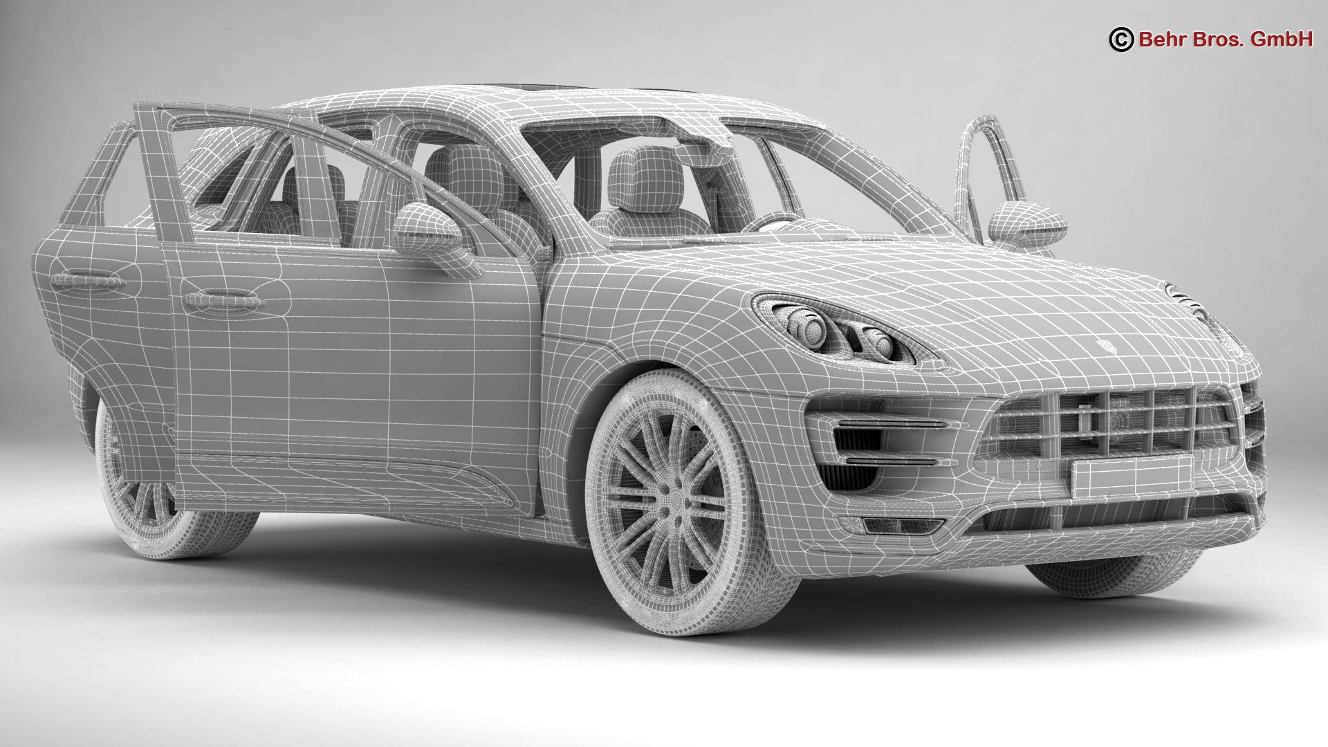 porsche macan turbo 2015 3d model 3ds max fbx c4d lwo ma mb obj 214057