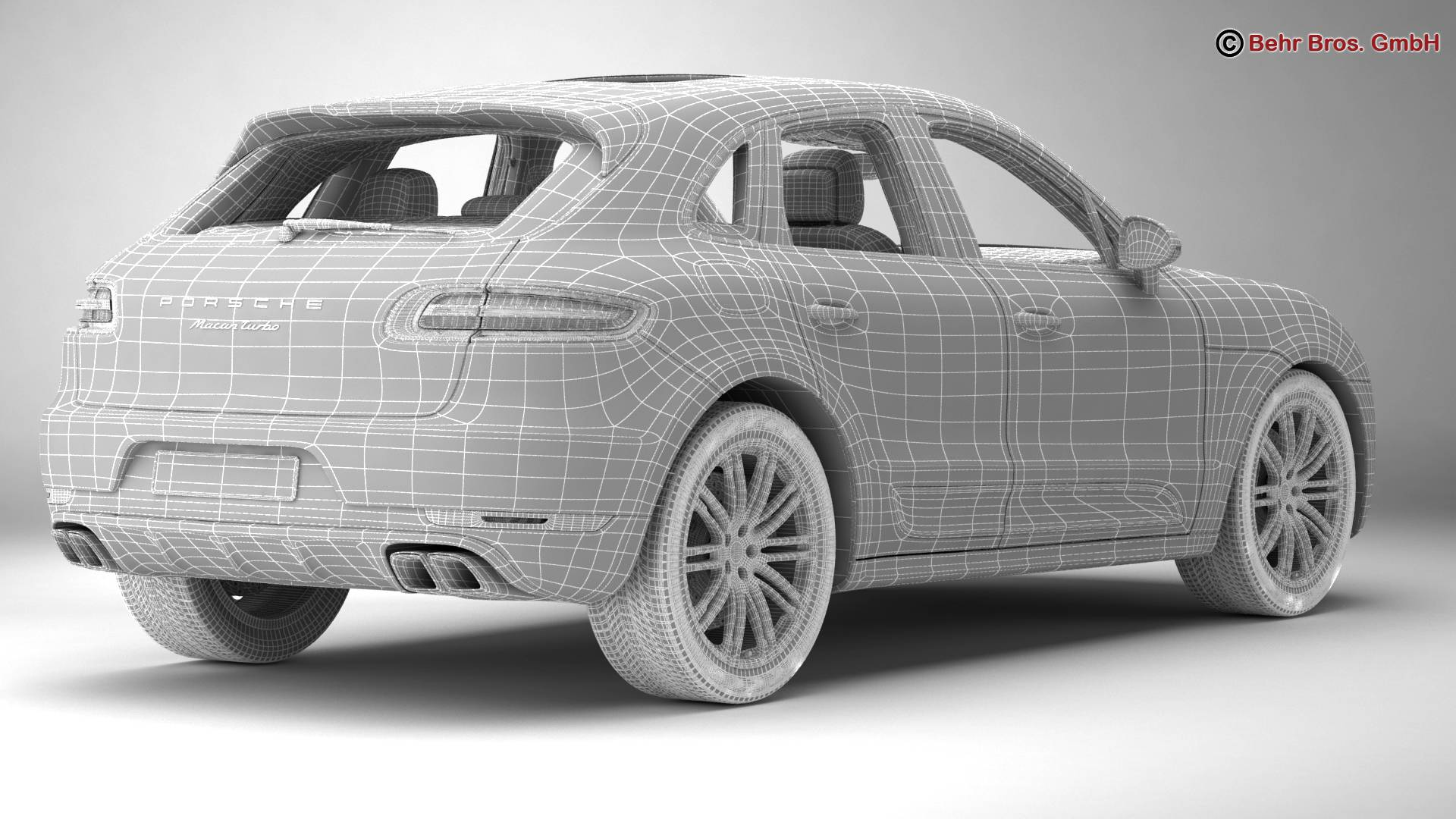 porsche macan turbo 2015 3d model 3ds max fbx c4d lwo ma mb obj 214058