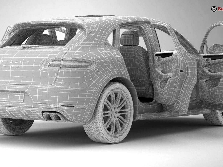 Porsche Macan Turbo 2015 3d model 3ds max fbx c4d lwo lws lw ma mb obj