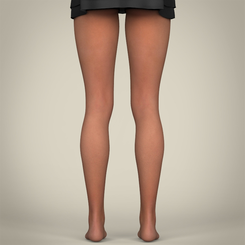 realistic sexy babydoll girl 3d model 3ds max fbx c4d lwo ma mb texture obj 214078